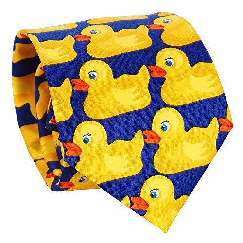 Entchenkrawatte Blau und Gelb - Enten Krawatte - Verkleidung