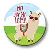 Polar Infantil Button Pin Carnaval Pin No Drama Lama Cooles Alpaca 38 mm Mano Made