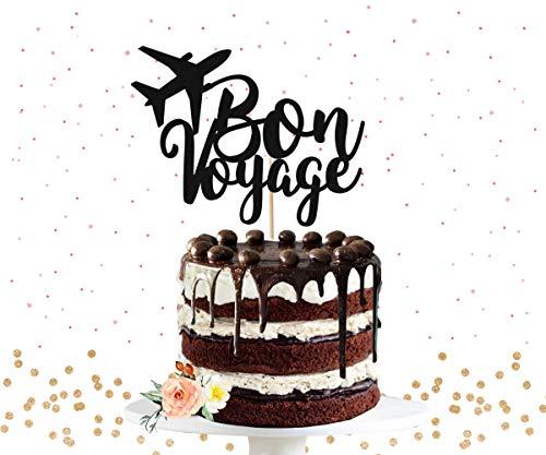 Cake Topper Bon Voyage Going Away Party Retirement Party Farewell Party Retirement Happy Retirement Bon Voyage Party Cardstock Glitter Paper