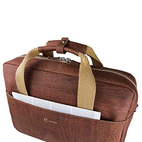 """Besace sac à bandoulière pour ordinateur portable 15"""" PETA GAGNANT liège Rouge"""