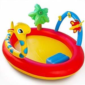 Pataugeoire piscine d 39 enfant aire de jeux fleur - Amazon piscina bambini ...