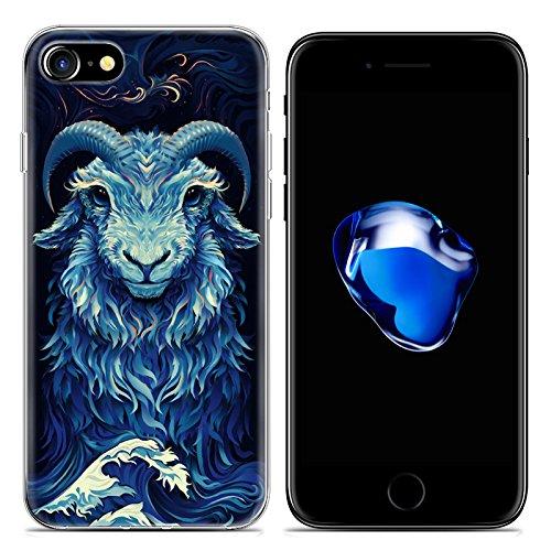Easbuy Cartoon Tier Handy Hülle Soft Silikon Case Etui Tasche für iPhone 7 Smartphone Cover Handytasche Handyhülle Schutzhülle Mode 16