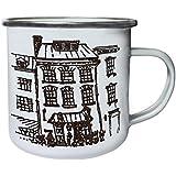 Nueva Casa Dibujada A Mano Retro, lata, taza del esmalte 10oz/280ml l456e