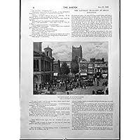 Mercato del Bestiame Antico Kingston della Stampa sulla Fotografia Mayall Kingston 1898 di Tamigi - Antichi Da Collezione Delle Fotografie