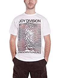 Joy Division T Shirt Unknown Pleasures Space Band Logo Official Mens White