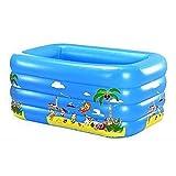 TINGTINGDIAN Baby Gepolsterter Kind-aufblasbarer Swimmingpool Kann Swimmingpool-Kinder aufblasbare Badewanne bewegen, die verdickendes Bad-Fass-umweltfreundliches materielles Blau erhöht