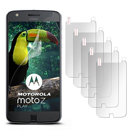 5X Lenovo Moto Z Play | Schutzfolie Matt Evince Schutz [Anti-Reflex] Screen Protector Fingerprint Limber-Folie Matte Displayschutz-Folie für Motorola Moto Z Play Displayfolie