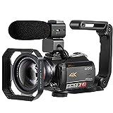 """Videocamera 4K, Videocamera ORDRO AC5 con Zoom Ottico 12x 3,1""""IPS Ultra HD 1080P 60FPS Videocamera Digitale WiFi con Touch Screen con Microfono Grandangolare"""