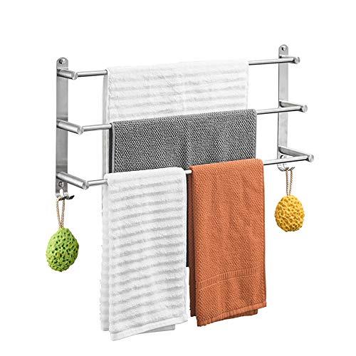 Handtuchhalter Rack Edelstahl gebürstet 3-Schicht Handtuchhalter Wand-Badetuch