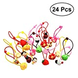 #10: Frcolor Hair Band Tie Ropes Bands Ponytail Holders for Kids Baby Girls 24PCS