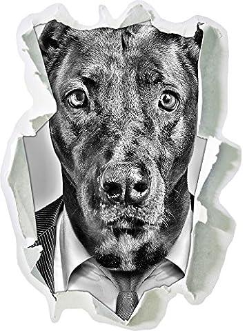 Monocrome, costume de chien ManagerPapier aspect 3D, la taille de la vignette mur ou de porte: 92x67cm, stickers muraux, sticker mural, décoration