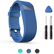 Correa de repuesto para pulsera inteligente Fitbit Charge HR, de Tosempo , color Blue-L