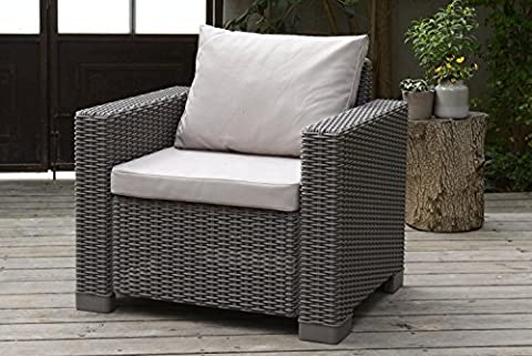 Stone Replacement 2 Piece Seat Cushions Set for Keter Allibert California Outdoor Armchair