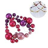 BESTOYARD Placcatura di Splendidi Ornamenti di Natale con Palle di Glitter