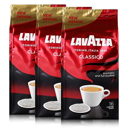 3x Lavazza Classico Kaffeepads - Harmonisch und Würzig - für alle Padmaschinen