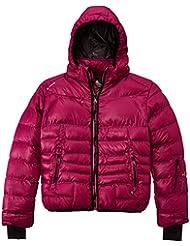 Peak Mountain Galpine/yl - Chaqueta de esquí para niña, color fucsia, talla FR : 12 ans (Talla fabricante : 12)
