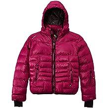 Peak Mountain Galpine/yl - Chaqueta de esquí para niña, color fucsia, talla FR : 14 ans (Talla fabricante : 14)