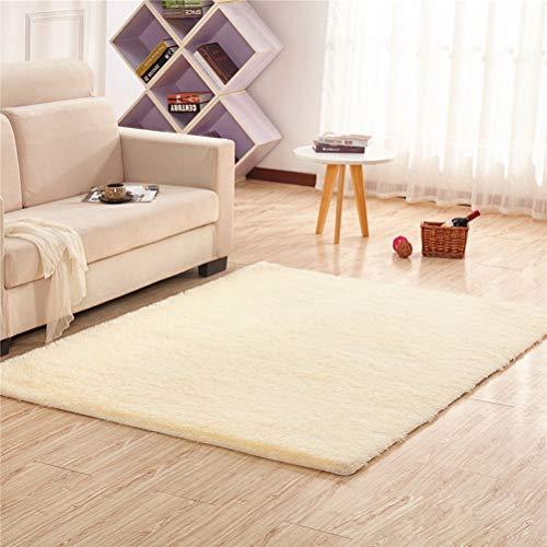 LUYION- Mehrfarbiger Bereich Teppiche Solide Farbe Super Soft Home Shaggy Teppich Multi-Size-Bodenpolster Für Wohnzimmer Schlafzimmer,Beige,160X230cm -