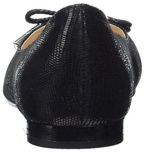 Caprice 22112, Ballerines Femme Noir (Black Reptile)