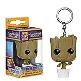 Happy Banana Baby Groot - Llavero con Figura de Guardians of The...