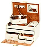 Mele & Co Duchess Cream and Tan Large Jewellery Box