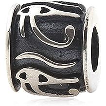 soulbead ojo de Horus encanto plata de ley 925Envejecido cuentas para pulsera de estilo europeo
