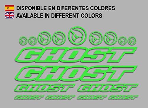 Ecoshirt 0B-E0CY-599T Adesivi Ghost F188 Vinile Decal Aufkleber (MTB Stickers Bike, Verde