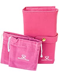 Specialty Styles Travel Jewellery Case - Jewellery Organiser With 2 Pouches - Quality Compact Folding