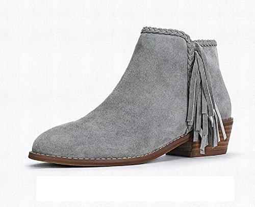 d273a766bddf1a Bottes À Franges Pour Femmes Avec Grandes Chaussures En Cuir Et Velours Et  Bottes Pour Femmes