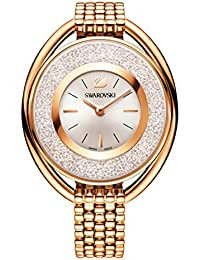 Swarovski Crystalline Oval Rose Gold Tone Pulsera Watch