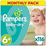 Pampers Baby-Dry Windeln, Monats-Sparpackung
