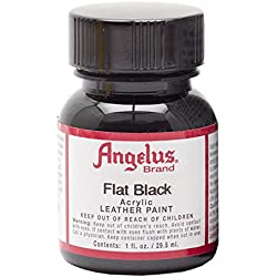 Angelus Acryl Leder Farbe 29,5ml / Angelus Acrylic Leather Paint 1oz (Matt Schwarz / flat black)
