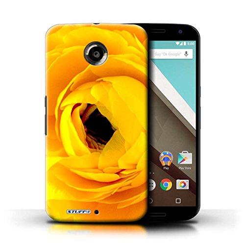 Kobalt® Imprimé Etui / Coque pour Motorola Nexus 6 / Fleur jaune conception / Série floral Fleurs Begonia