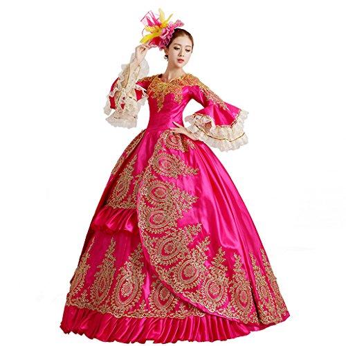 Cosplayitem Damen Mädchen Lagerter Gothic viktorianischen Kleid Kostüm Abendkleid Palace Maskerade Königin Prinzessin (Fedex Kostüm Kinder)