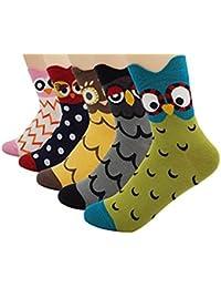 5 Paar Damen Baumwolle Bunt süß katze Socken (stil 6)