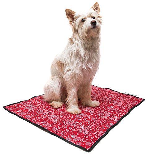 Aqua Coolkeeper Hunde Kühlmatte – Modell: Red Western (Gr. L 80x 60cm) - 2