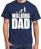 clothinx Herren T-Shirt The Walking Dad Navy Größe XXL