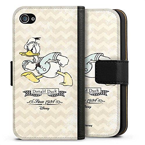 Apple iPhone 6s Silikon Hülle Case Schutzhülle Disney Donald Duck Vintage Fanartikel Geschenke Sideflip Tasche schwarz