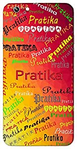 Pratika (Symbolic) Name & Sign Printed All over customize & Personalized!! Protective back cover for your Smart Phone : Canvas Selfie Lens Q345