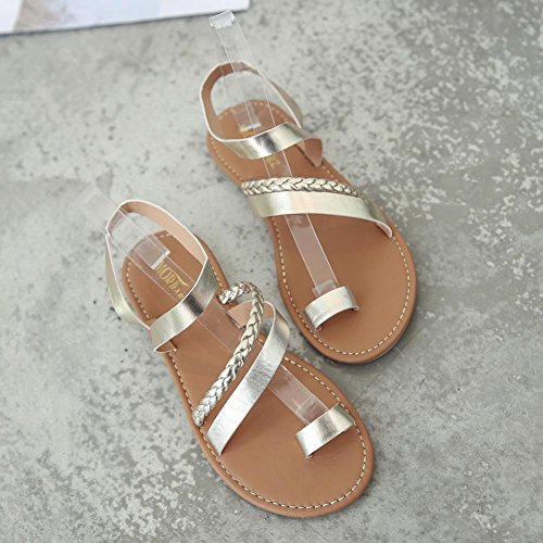 16eb370c538e9 HOMEBABY® Women Sandals Shoes – Girls Summer Strappy Gladiator Low Flat  Heel Flip ...