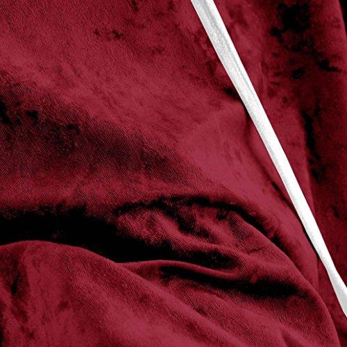 Felpe Donna,Kword Donna Felpa Con Cappuccio Felpa Manica Lunga Maglione Pullover Top Camicetta di velluto Outwear manica lunga Felpa Giacca Casual Cappotto Maglione Vino