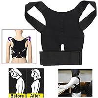 Verstellbare Haltung Rücken Stütze Korsett Corrector Schulter Band Korrektur Gürtel Schwarz preisvergleich bei billige-tabletten.eu