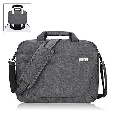 Zikee 13,3-14 Zoll wasserfeste, multifunktionale Laptop Hülle Notebooktasche Laptoptasche Laptop-Umhängetasche mit Griff und Schulterriemen aus strapazierfähigem Oxford als Messenger Bag mit Zubehörtasche für Geschäftsreisen