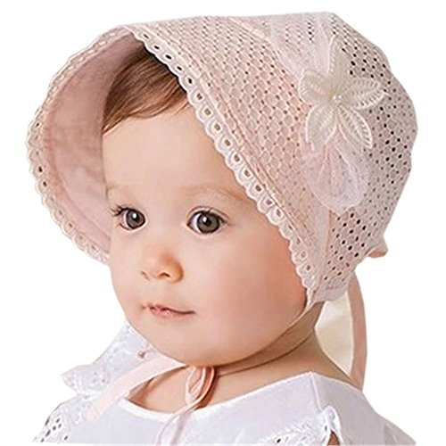 Prinzessin Kind Kind Mädchen Baby Hut Beanie neue Spitze Blumenkappen Farbe Rosa (Rosa Kind Von Prinzessin Hut)
