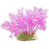 BAOLIJIN Ornamento de la Planta de la Hierba del Acuario para la decoración del Paisaje del Tanque de Pescados (Rosa) Fish Tank Ornament