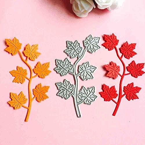 Syeytx Maple Leaf Set Prägestempel Metall Stanzen DiesEmbossing Schablone für DIY Scrapbooking Album Papier Karte Dekor Handwerk -