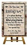 Photo Sharing Instagram de publicidad de la marca álbum de boda de Sign de la colección de para tarjeta de diseño con estampado de personalizado de tu propio Large A3