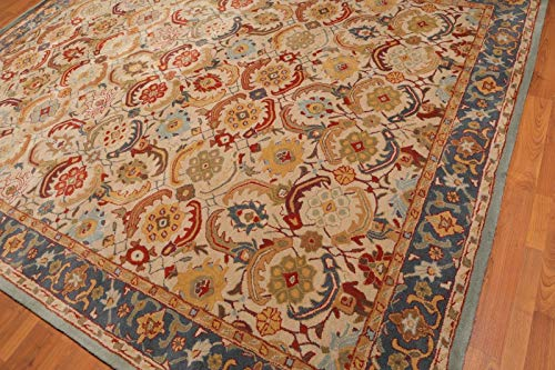 Persian nain eva beige lana tappeto fatto a mano tradizionale orientale tappeto persiano e tappeti, 100% lana, beige, 5x8 (152x244cm)