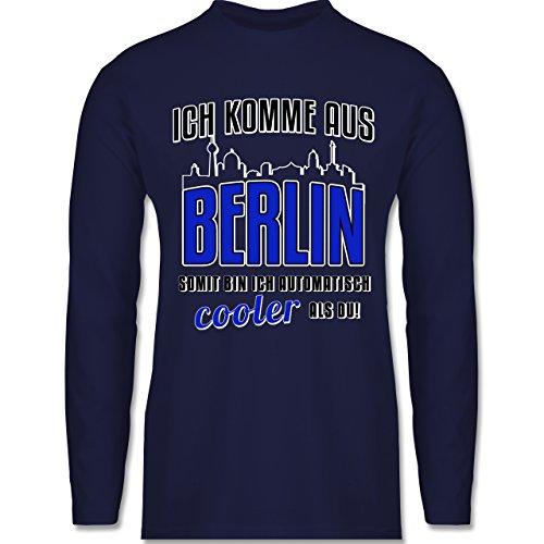Shirtracer Städte - Ich Komme Aus Berlin - Herren Langarmshirt Navy Blau