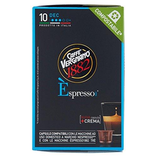 Caffè Vergnano 1882 Èspresso1882 Dec - 10 Capsule - Compatibili Nespresso [confezione da 3]
